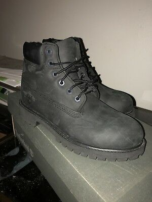 Boy's Youth Timberland Nubuck Boots Size 2.5y Black