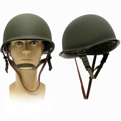 WW2 USA Military Steel ABS M1 Helmet WWII Outdoor Army Tactical Equipment
