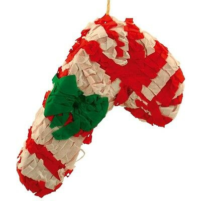 Christmas Candy Cane Pinata with Treats Parrot Toy