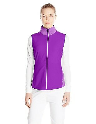 (Medium, Blackberry) - Cutter & Buck Women's CB Weathertec Laura Hybrid Vest