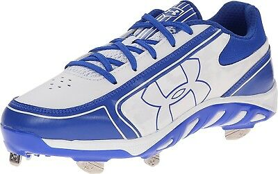 (10 B(M) US, White/Royal) - Under Armour Women's UA Spine Glyde ST CC Sneaker