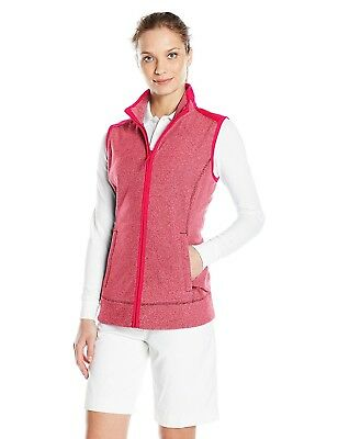 (Large, Cardinal Red Heather) - Cutter & Buck Women's Cb Weathertec Cedar Park