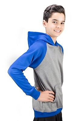 (Medium, Royal) - Covalent Activewear Youth Ringer Hoody. Shipping Included