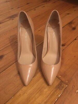 Tony Bianco nude patent heels size 7 as new