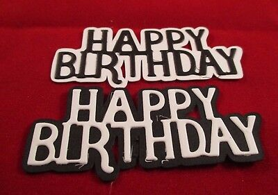 10 Happy Birthday Sentiments Die Cuts