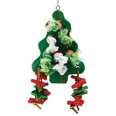 Christmas Chunky Wooden Christmas Tree Parrot Toy