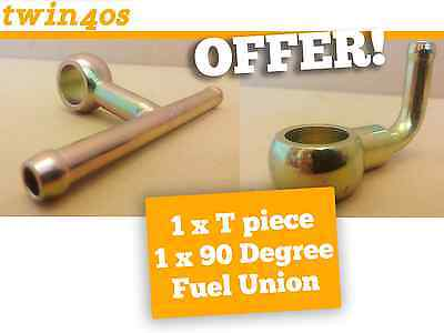 1 X BANJO T PIECE & 1 X 90 degree Fuel Union Single (DCOE REPLACEMENT) CARB