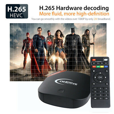 QHDlive IPTV Set Top TV Box Support Global 2400+ Live Channels Android 7.1 1G+8G