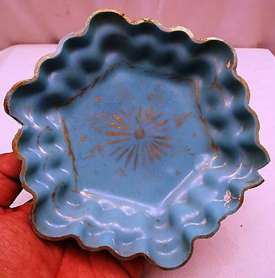 Antique Mughal Glass Hand Blown Plate Ancient Persian Turkish Or Kapadwanj