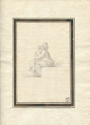 OLD DRAWING - STUDY AFTER THE OLD MASTERS - DIKEOS COLLECTION - 18th century