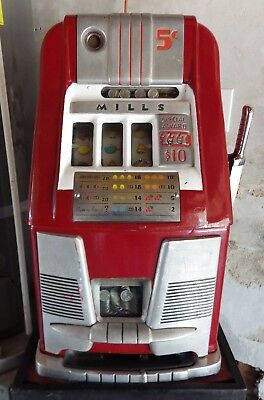 Mills 5 Cent high top slot machine 777 Special Award antique As Is Local Pickup
