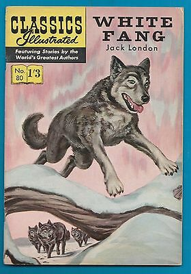Classics Illustrated Comic  # 80  White Fang  by  Jack London  #916
