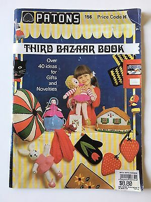 Vintage Patons 156 Third Bazaar Knit Sew And Crochet Book - Over 40 Ideas