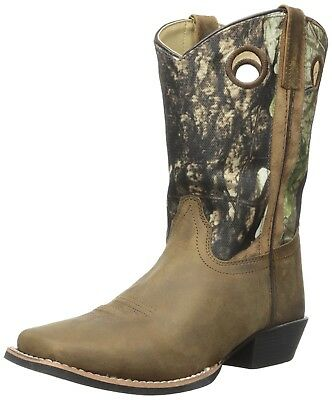 (Child's 2 M US, Brown) - Smoky Mountain Youth MESA Square Toe Boot
