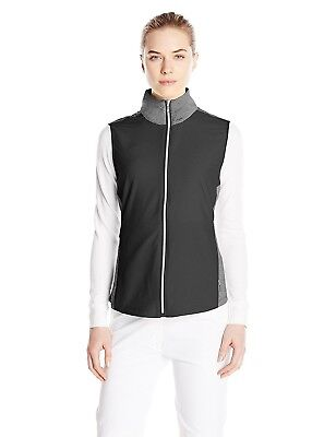 (Medium, Black) - Cutter & Buck Women's CB Weathertec Laura Hybrid Vest