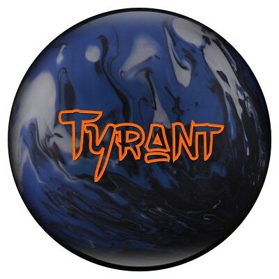 (6.4kg) - Tyrant Pearl Bowling Ball- Black/Blue/Silver. Bowlerstore Products