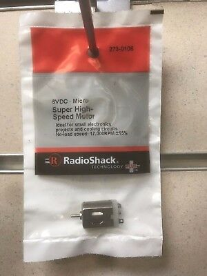 Radio Shack High Speed Motor 6VDC 17,000 RPM Electronic Projects - 273-106 - NEW