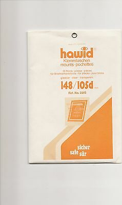 HAWID MOUNTS 148x105 mm strips clear pack of 10