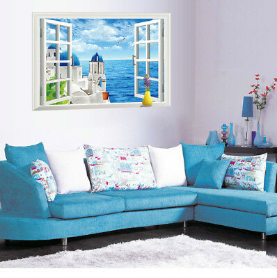 Fashion Mediterranean Sea Wall Paper for Living-room Bedroom TV mural Decoration