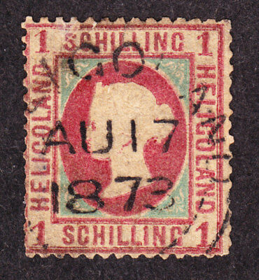 old germany states heligoland 1 S. 1869 Mi# MIchel 7yc 7c used expertized proved
