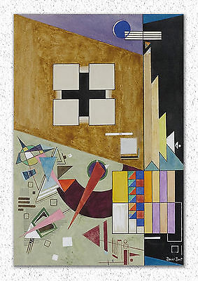 Rudolf Bauer   Two counterpoints  50x34 cm STAMPA TELA CANVAS PRINT TOILE LIENZO