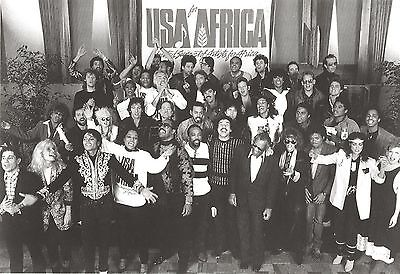 We Are The World 8X10 Photo Music Usa For Africa Picture Over 40 Stars