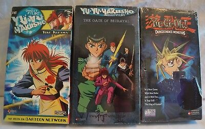 New Sealed NOS Yu Yu Hakusho and Yu-Gi-Oh VHS Lot Anime