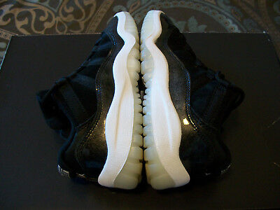 Nike Air Jordan 11 Retro Barons Low XI Black White PS Size 11C Kids Boys 505835