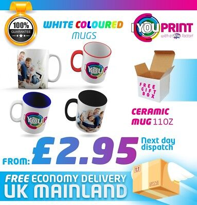 Personalised Mug 11oz Next Day Dispatch Custom Printing Image or Text |Free P&P