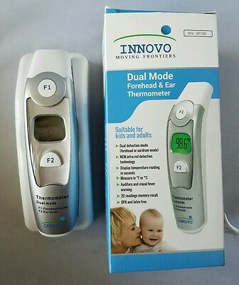 Innovo Dual Mode Medical Forehead & Ear Thermometer 4 Kids & Adults Easy to Use