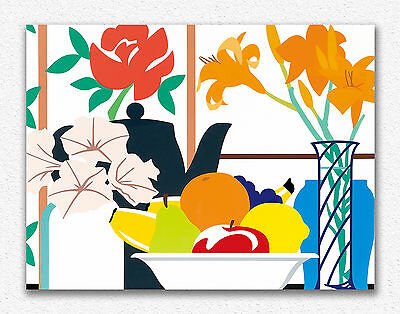 Tom Wesselmann Still Life with Petunias 75x100cm STAMPA TELA CANVAS PRINT TOILE