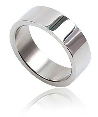 316L STAINLESS STEEL 8MM FLAT RING BAND Sizes L to Y Free UK P&P