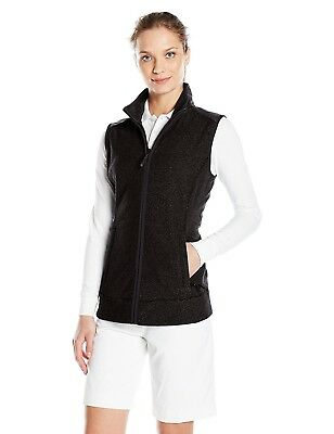 (Large, Black) - Cutter & Buck Women's Cb Weathertec Cedar Park Vest. Best Price