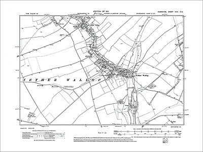 Middle Wallop, Nether Wallop, Old Map Hampshire 1911: 31SW