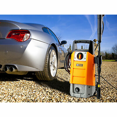 RAC Electric Power Pressure Jet Washer 100 Bar 1400W Car Cleaning