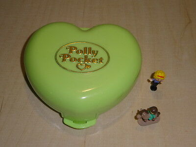 Polly Pocket mini Polly's Pony Club 100 % complete Pferd Horse Herz Dose
