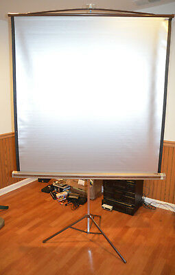 DA-LITE Silver Pacer Portable Projection Screen 50 inch 50x50 vintage