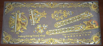 NOS SINGER Sewing Machine Decal Set SPHINX aka MEMPHIS for Model 15 & Full Size