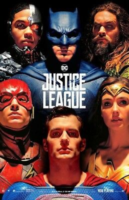 """Justice League (11"""" x 17"""") Movie Collector's Poster Print (T31) - B2G1F"""