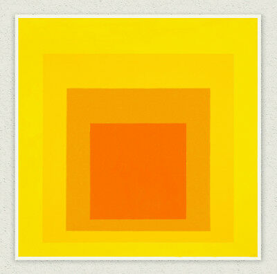 Josef Albers  Midsummer  90x90 cm  STAMPA TELA CANVAS PRINT TOILE LIENZO
