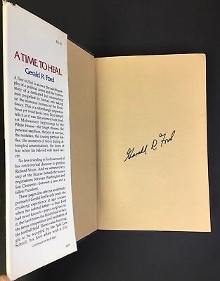 Gerald Ford Signed Autobiography - A Time To Heal