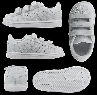 Adidas Originals Superstar Boys Suede Infants Kids Baby Trainers Shelltoe New