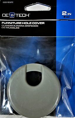 2 in. Furniture Hole Cover - Grey