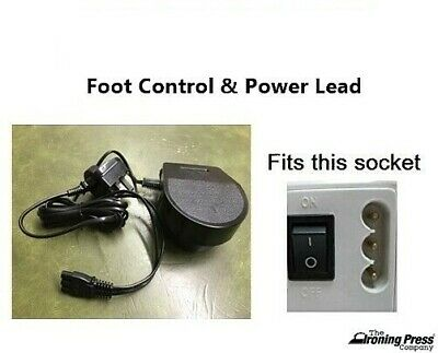 Janome Foot Control & Power Lead, 3-Pin Type (Fits Most Janome Sewing Machines)