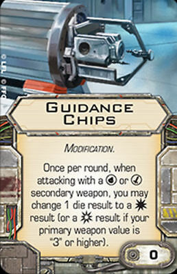 X-Wing Miniatures Guidance Chips modification upgrade card Star Wars