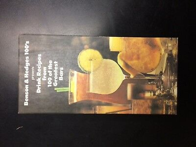 Benson & Hedges 100's drink recipes book from famous bars