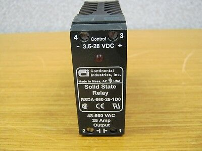 Continental Industries Relay RSDA-660-25-1D0