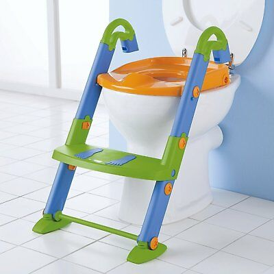 Kids Kit Toilet Potty Seat Trainer Step Up 3 in 1 Bathroom Foldable