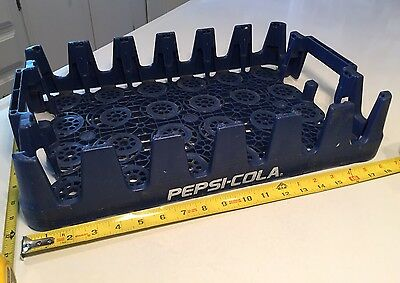 Pepsi Cola Plastic Blue Bottle Stacking Crate Carrier Tray Caddy