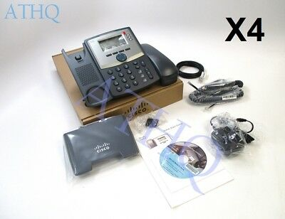 BRAND NEW Bundle of 4 Cisco SPA303-G2 IP Phone 3-line with Display and PC Port